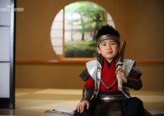 アンズガーデン松戸の七五三5歳のフォトプランの撮影です。