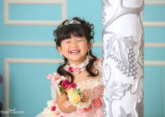 アンズガーデン松戸の七五三3歳のフォトプランの撮影です。