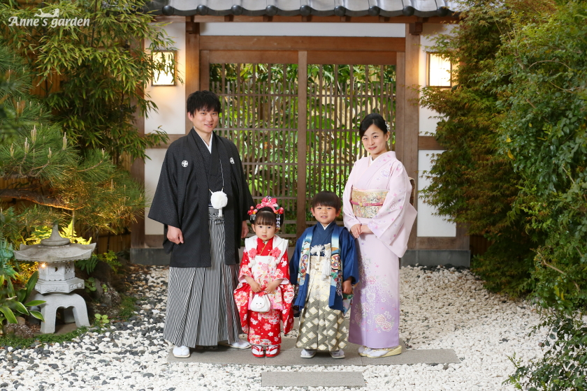 アンズガーデン松戸の七五三のレンタルプランの前撮りです。