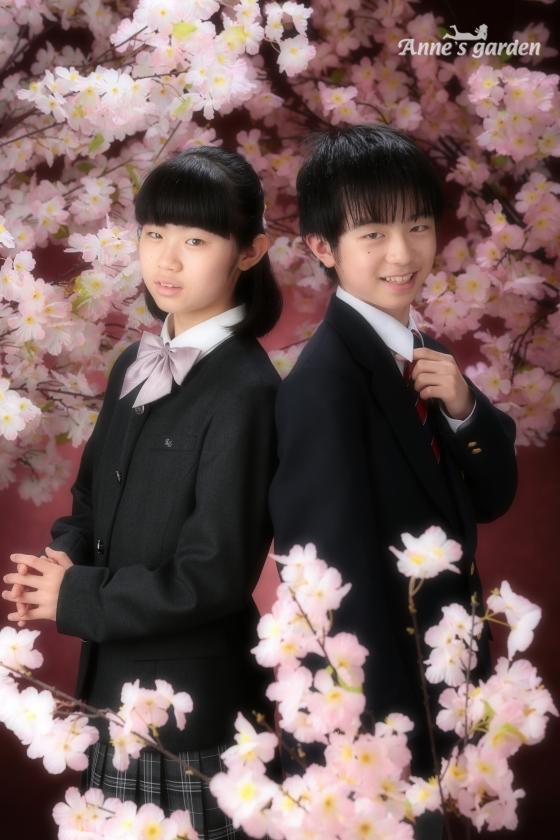 アンズガーデン新東京店で、入学記念の撮影をされたお客様