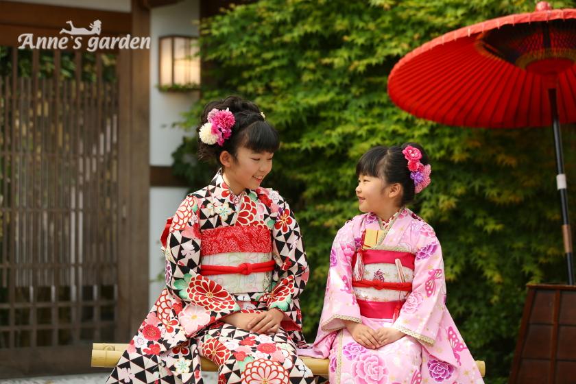 アンズガーデン松戸の七五三のフォトプランの撮影です。