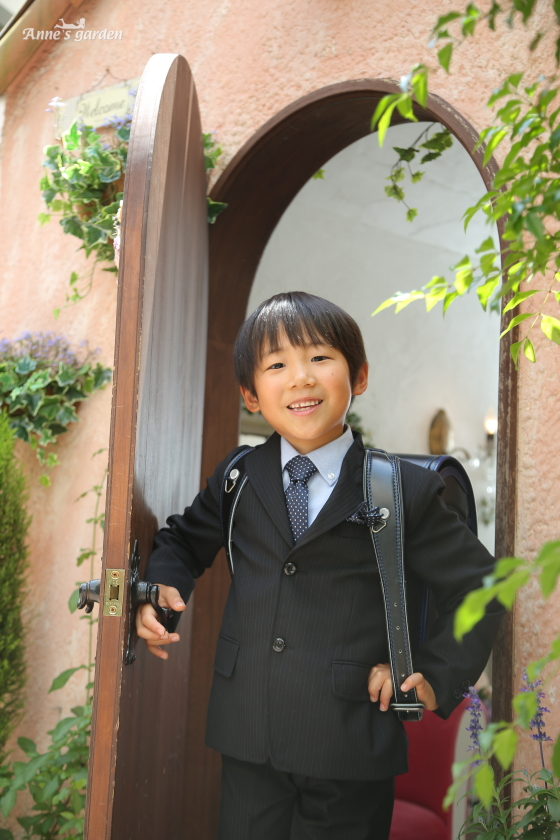 アンズガーデン松戸店の入学記念とお宮参りの撮影です。