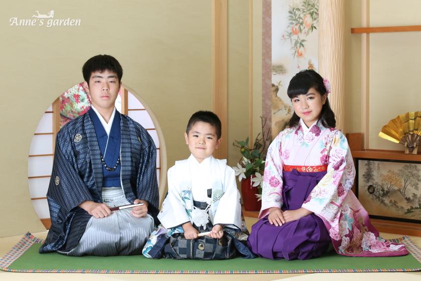 アンズガーデン市川店で、七五三と小学校卒業袴の撮影をされたお客様